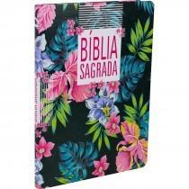 BIBLIA NA SAGRADA SLIM LETRA GIG CP SINT - PRETA FLORAL