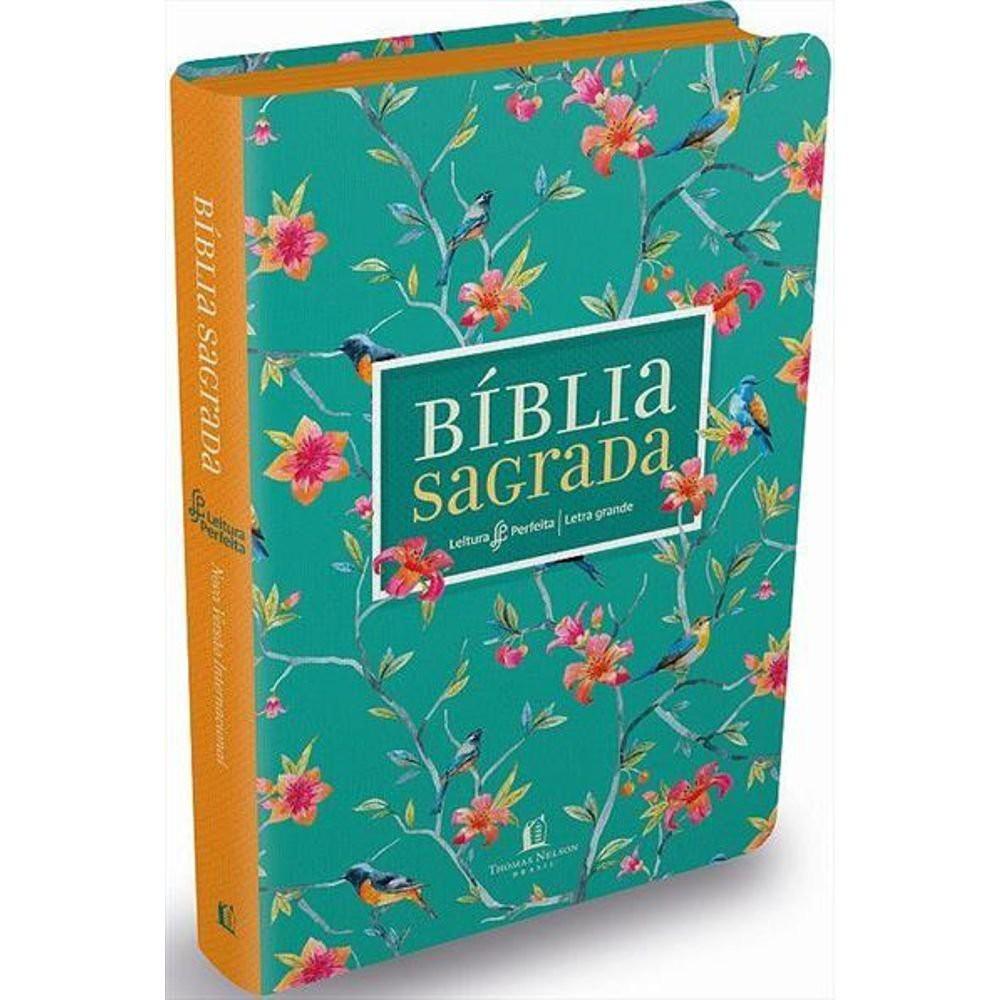 BIBLIA NVI LEITURA PERFEITA CP LUXO GRANDE - FLORES