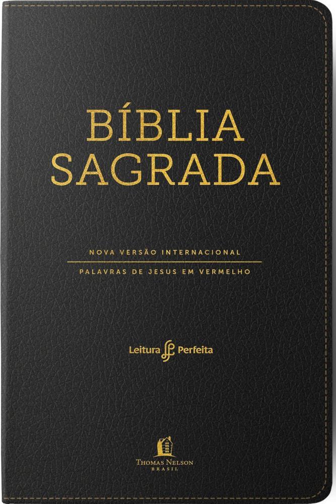 BIBLIA NVI LEITURA PERFEITA CP LUXO GRANDE  LETRAS VERMELHAS - PRETO