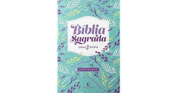 BIBLIA NVI LEITURA PERFEITA LETRA GIG CP LUXO - FLORES