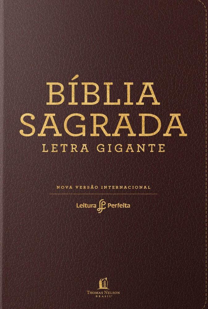 BIBLIA NVI LEITURA PERFEITA LETRA GIG CP LUXO - NEUTRA