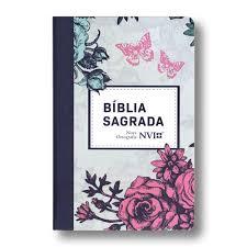 BIBLIA NVI NOVA ORTOGRAFIA - LILAS FLORAL
