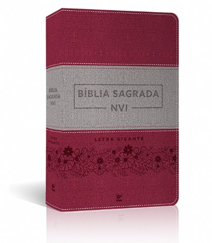 BIBLIA NVI SAGRADA LETRA GIGANTE - ROSA