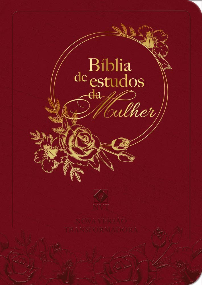BIBLIA NVT DE ESTUDO DA MULHER CP COURO - BORDO