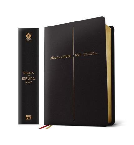 BIBLIA NVT DE ESTUDO LETRA GRANDE - PRETA