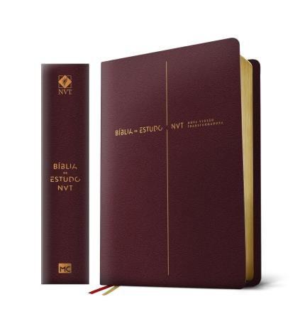 BIBLIA NVT DE ESTUDO LETRA GRANDE - VINHO