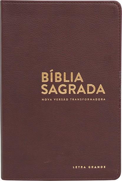 BIBLIA NVT LETRA GRANDE CP LUXO - MARROM