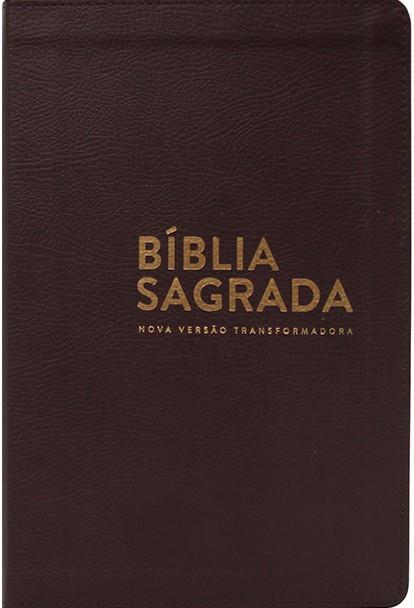 BIBLIA NVT LETRA NORMAL CP LUXO - MARROM