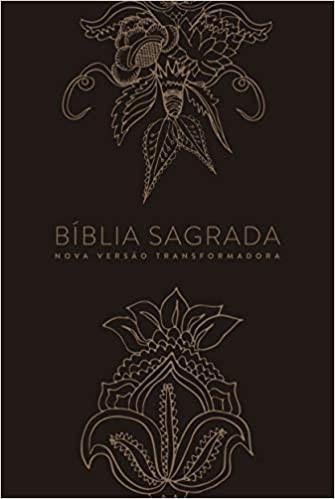 BIBLIA NVT LN INDIAN FLOWERS DOURADA