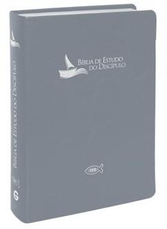 BIBLIA RA DE ESTUDO DO DISCIPULO LUXO - CINZA GRAFITE