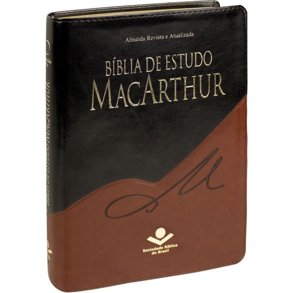 BIBLIA RA DE ESTUDO MACARTHUR - MARROM NOBRE