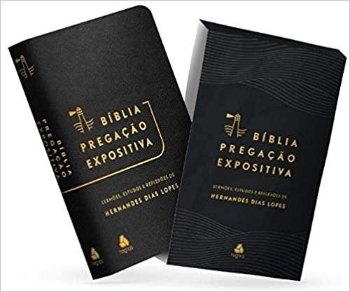 BIBLIA RA PREGACAO EXPOSITIVA SERMOES E ESTUDOS CP LUXO - PRETA