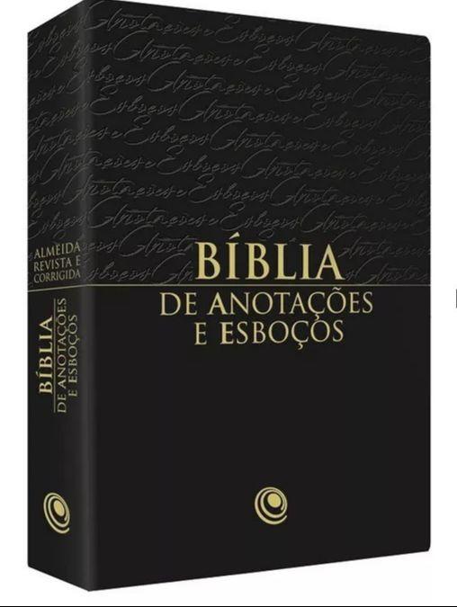 BIBLIA RC ANOTACOES E ESBOCOS COM INDICE - PRETA