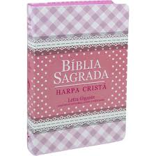 BIBLIA RC C/HARPA CP SEMIFLEX - ROSA