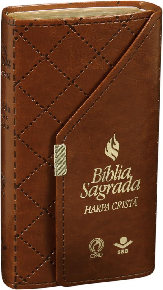BIBLIA RC CARTEIRA C/HARPA CP SINT - MARROM SBB