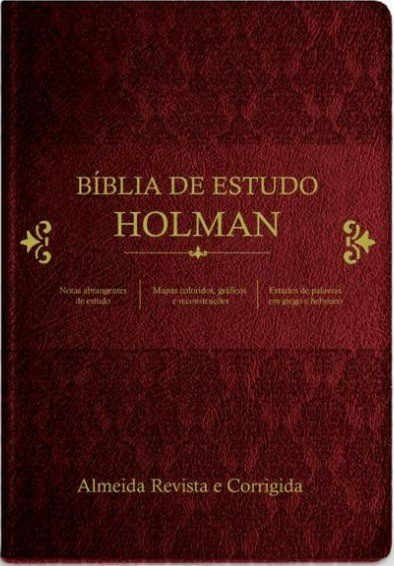 BIBLIA RC DE ESTUDO HOLMAN - VINHO