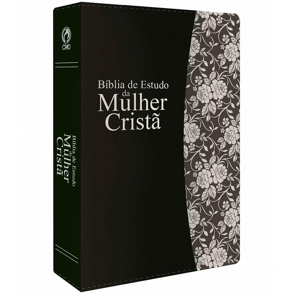 BIBLIA RC DE ESTUDO MULHER CRISTA CP LUXO - PU PRETO