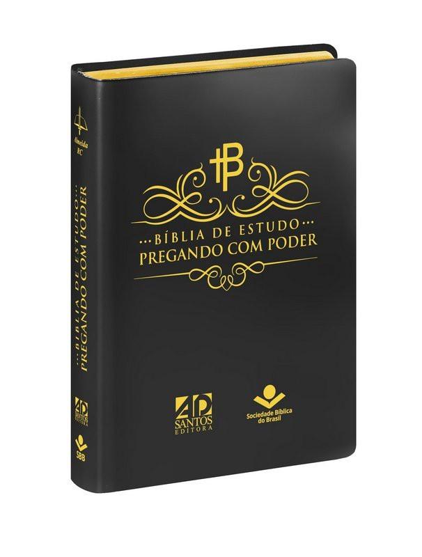 BIBLIA RC PREGANDO COM PODER CP SINT - PRETA