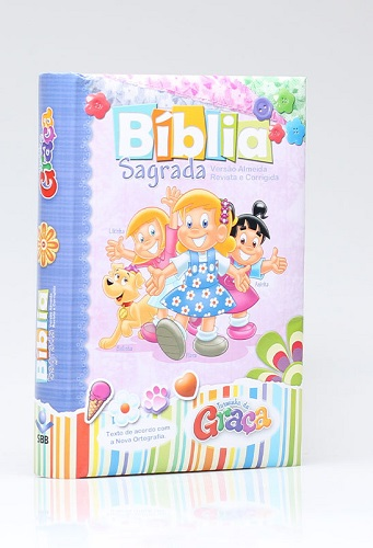BIBLIA RC TURMINHA DA GRACA ALMOFADADA - MENINAS