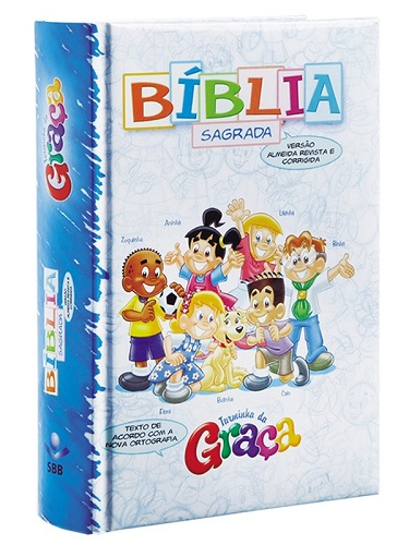 BIBLIA RC TURMINHA DA GRACA ALMOFADADA - MENINOS