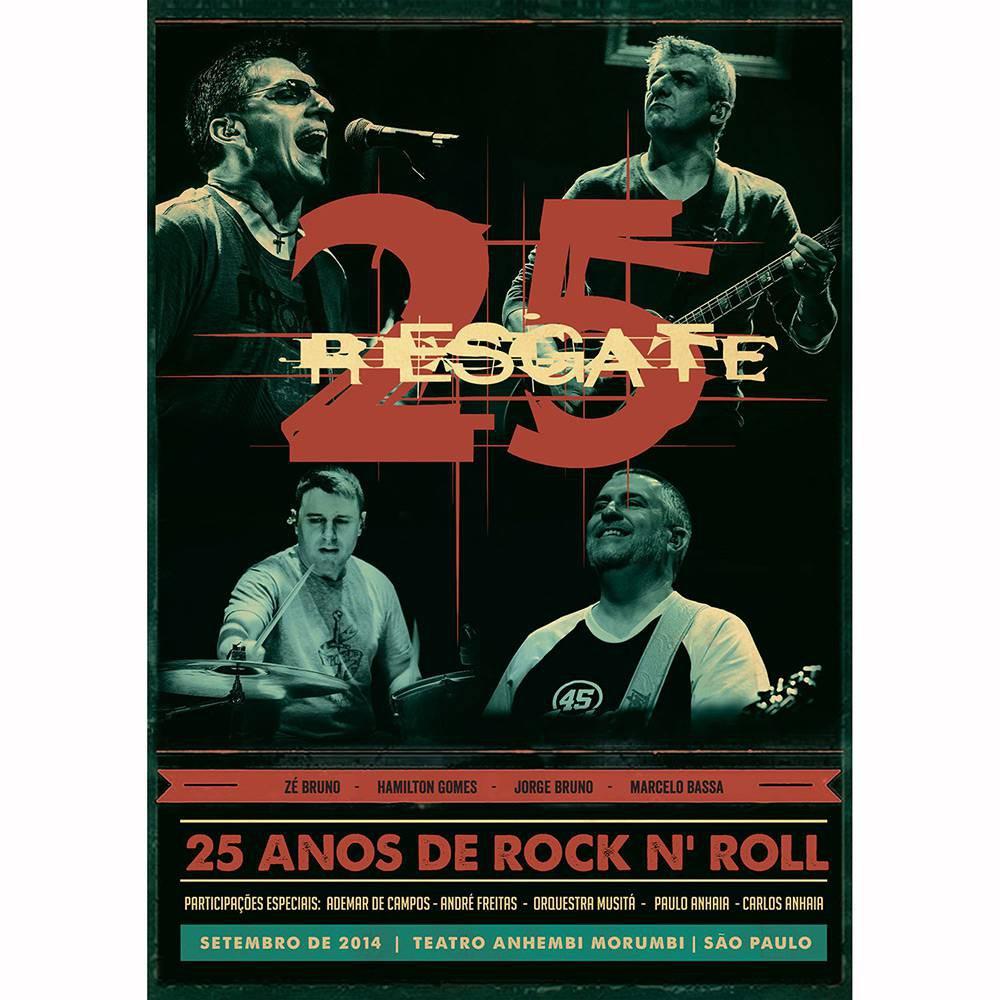 RESGATE AO VIVO  E 25 ANOS DVD