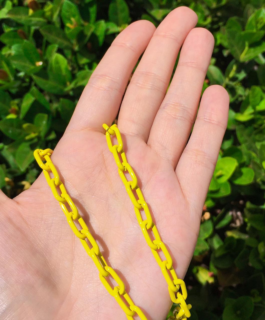 Corrente cadeado amarela
