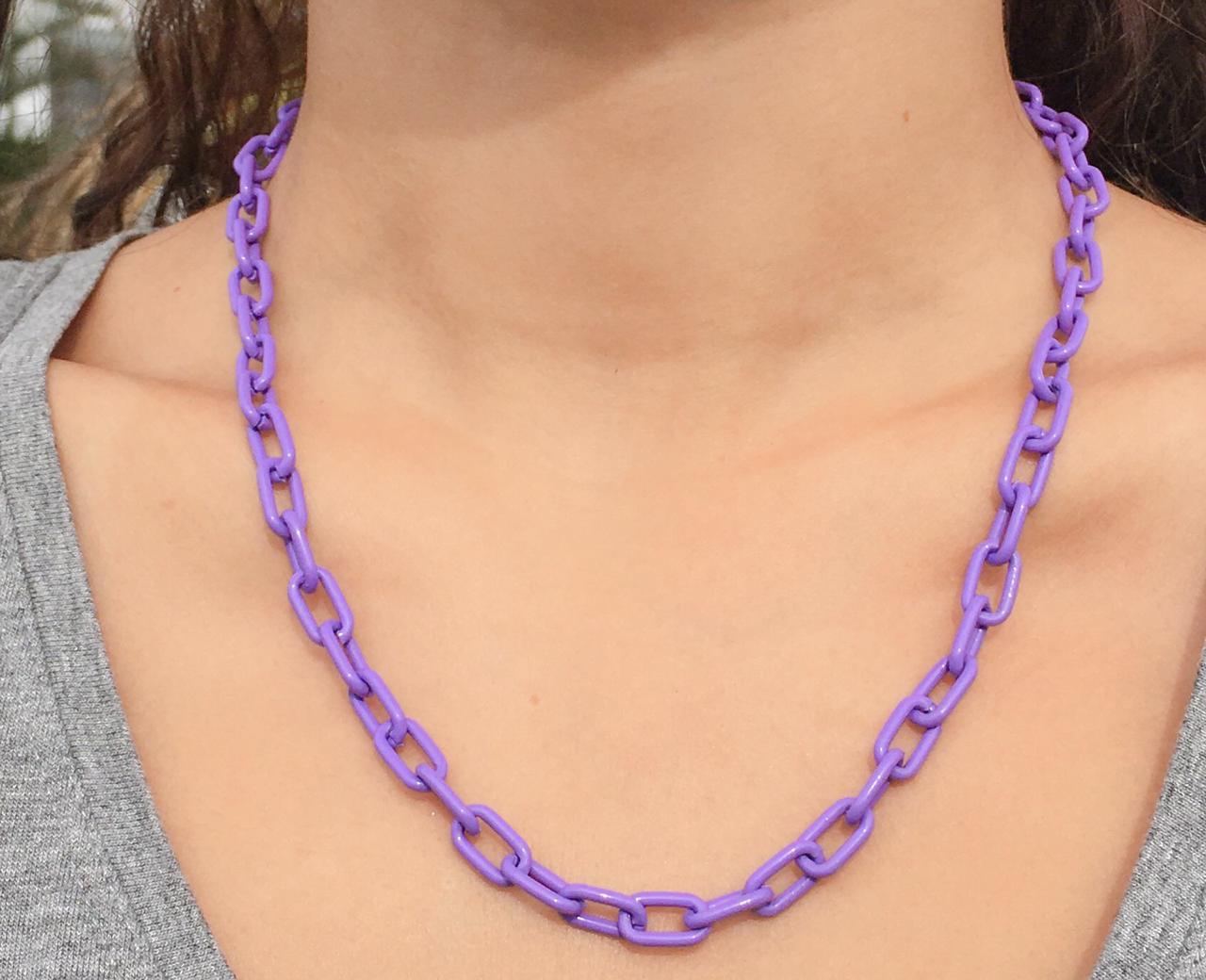 Corrente cadeado lilas