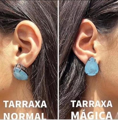 Trio de Tarraxa Magica - Para Orelhas rasgadas, Lóbulos Flácidos, Brincos Pesados