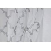 Cortina Sala e Quarto Voil Branco Bordado 4,00x2,60m