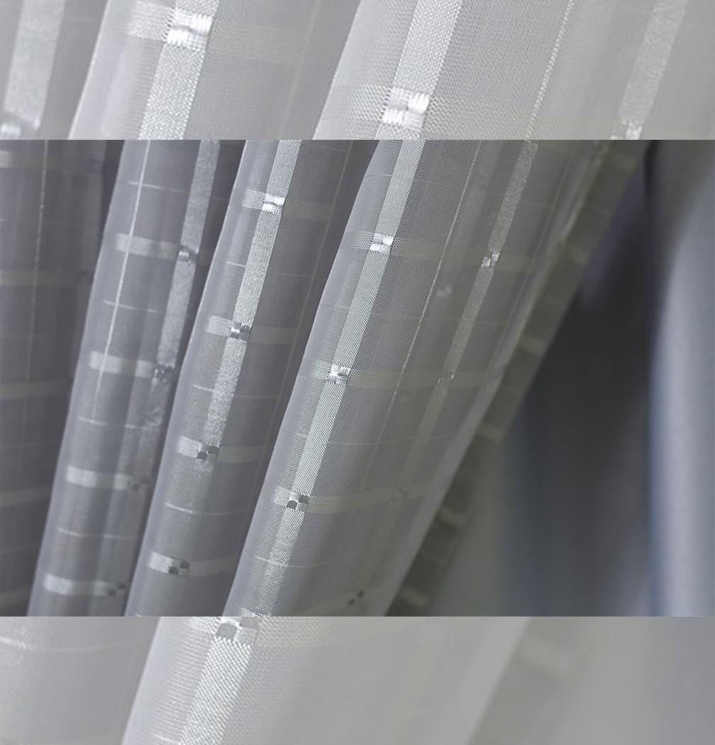 Cortina Sala e Quarto Voil Cinza Pérola 5,60x2,60m