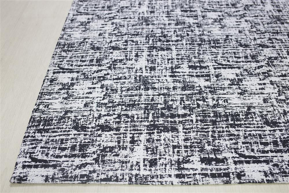 Tapete Sala Antiderrapante Grafiato Preto 1,40x2,00 Jacquard