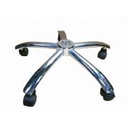 Kit Base Estrela Cromada Cadeira Escritório Com Rodízios