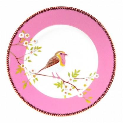 PRATO DE SOBREMESA EARLY BIRD ROSA - FLORAL 21CM