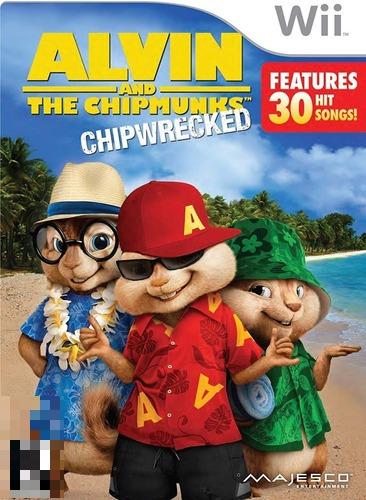 Alvin And The Chipmunks Chipwrecked Wii Mídia Física Completo Seminovo