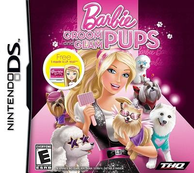 Barbie Groom and Glam Pups Nintendo DS Cartucho Seminovo