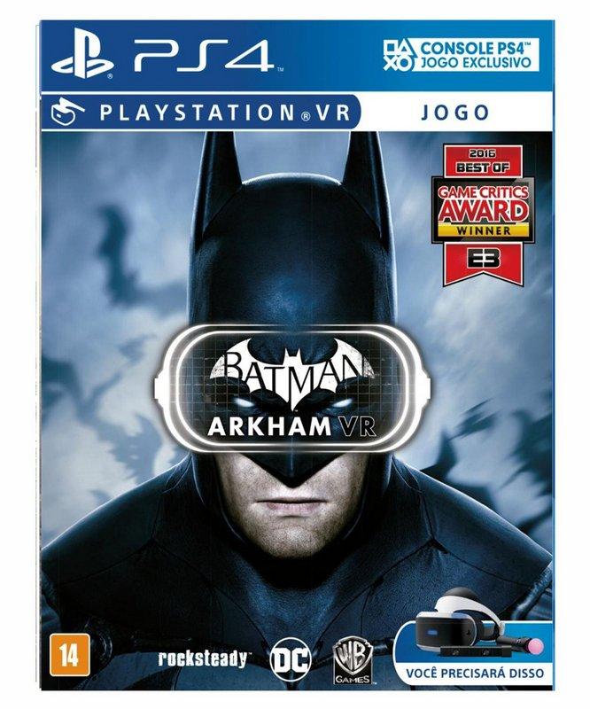 Batman Arkham VR PS4 Mídia Física Completo Lacrado