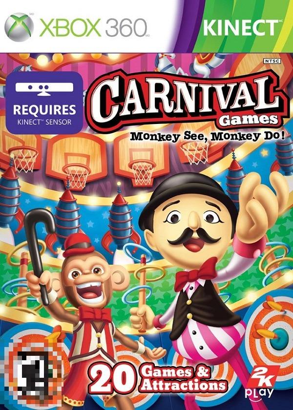 Carnival Games Monkey See, Monkey Do Xbox 360 Mídia Física Completo Lacrado