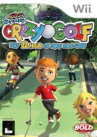 Crazy Golf Kidz Sports Play 72 Holes Of Crazy Mini-Golf Wii Mídia Física Completo Seminovo
