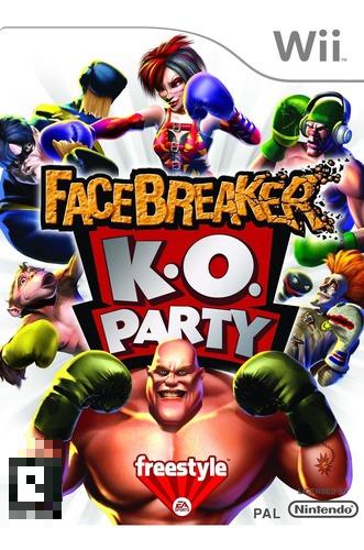 Facebreaker K.O. Party Wii Mídia Física Completo Seminovo