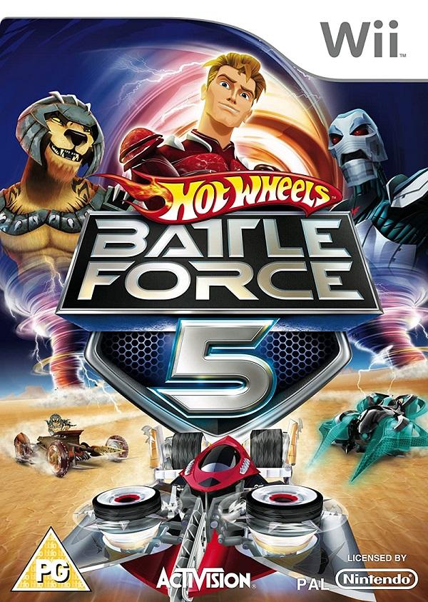 Hot Wheels Battle Force 5 Wii Mídia Física Completo Seminovo
