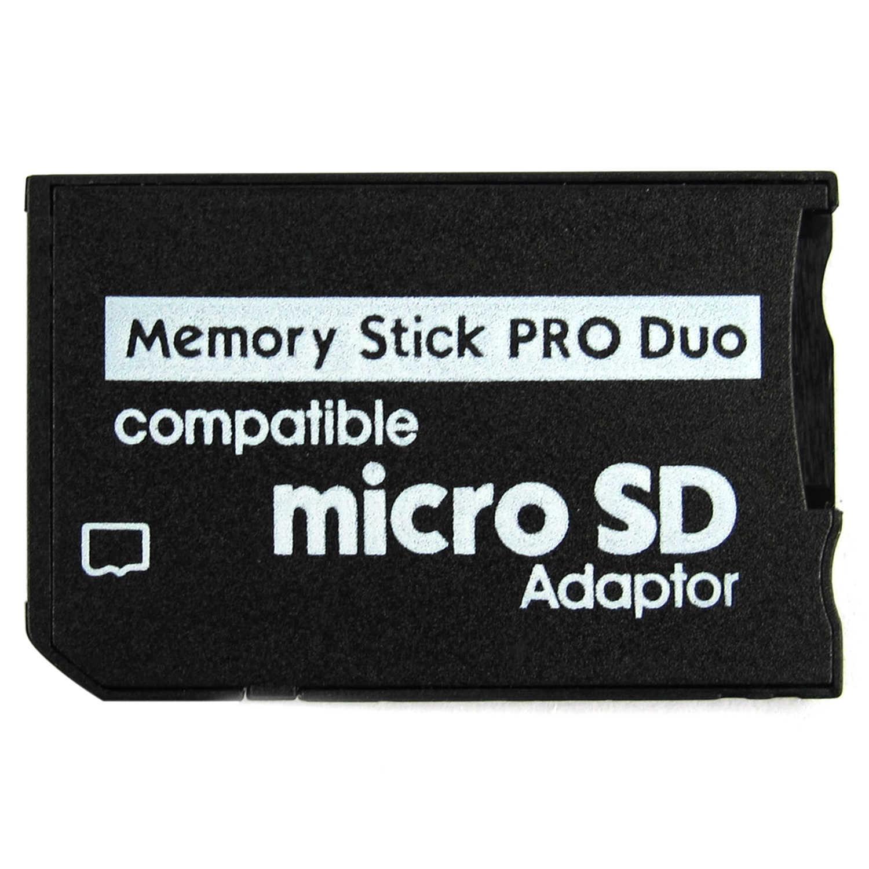 Kit 5 Adaptadores Memoria Pro Duo Para Micro SD PSP E Câmeras Sony