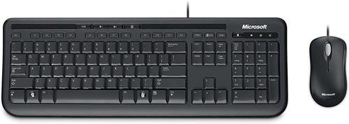Kit Teclado Mouse Com Fio Microsoft Desktop 600 Abnt Usb