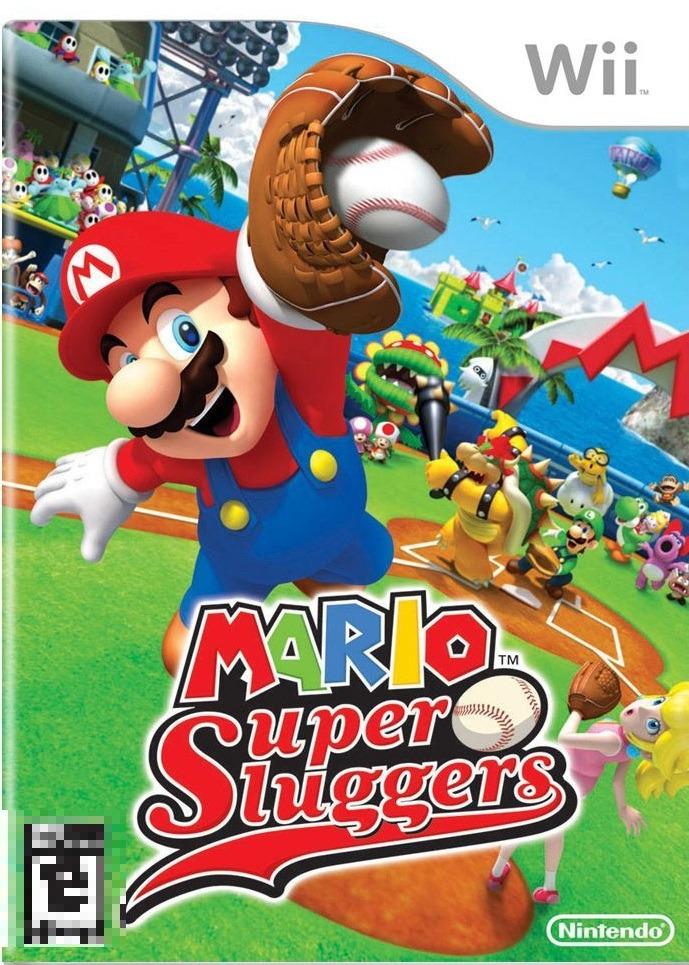 Mario Super Sluggers Wii Mídia Física Seminovo