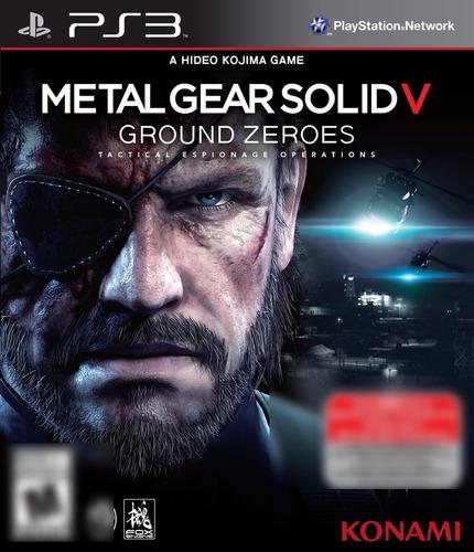 Metal Gear Solid V Ground Zeroes Tactical Espionage Operations PS3 Mídia Física Completo Seminovo