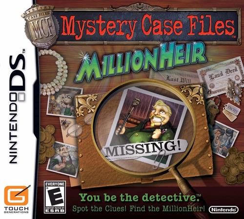 Mystery Case Files: MillionHeir Nintendo DS Cartucho Seminovo