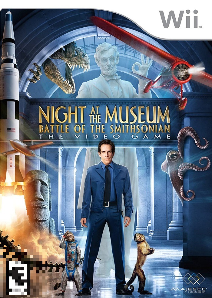 Night At The Museum Battle Of The Smithsonian The Video Game Wii Mídia Física Completo Seminovo