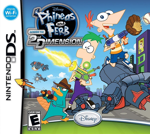 Phineas and Ferb Across the 2nd Dimension Nintendo DS Cartucho Seminovo