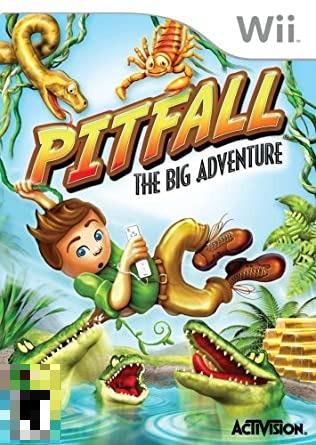 Pitfall The Big Adventure Wii Mídia Física Completo Seminovo