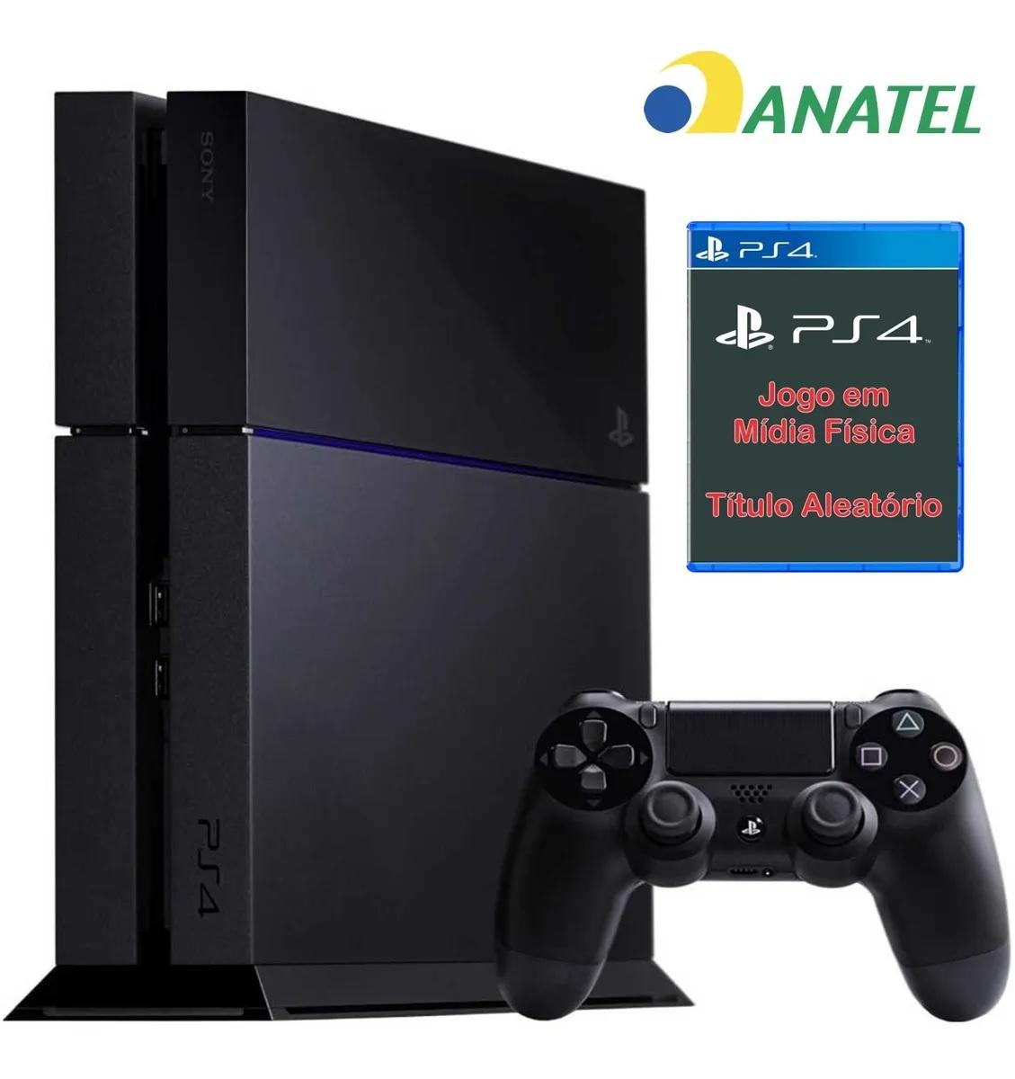 PlayStation 4 500 Gb Phat Seminovo com Brinde