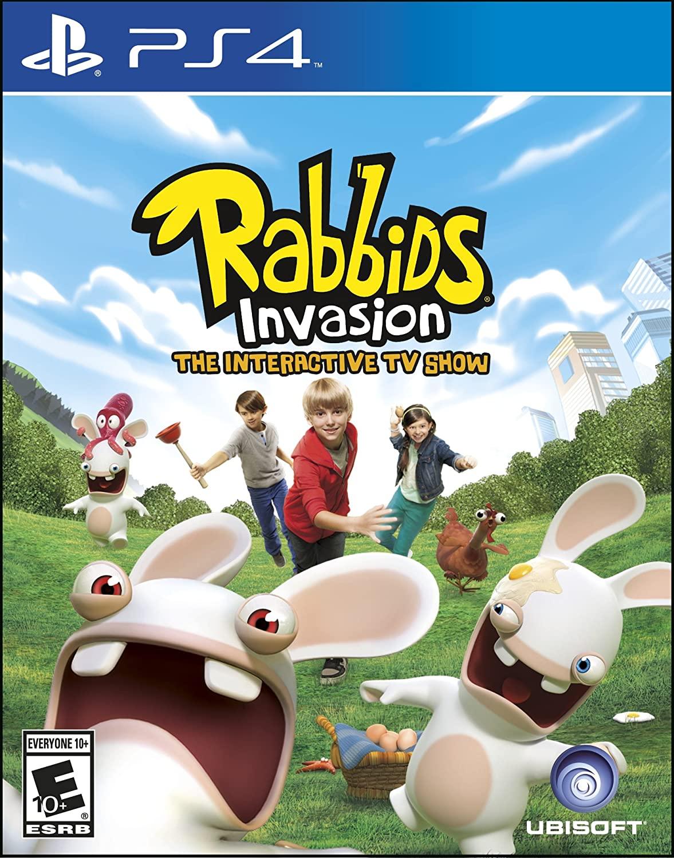 Rabbids Invasion O Show Interativo da TV PS4 Mídia Física Completo Lacrado